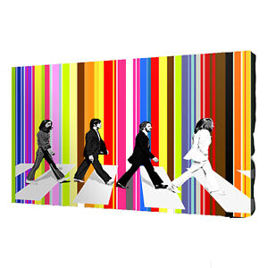 BEATLES ABBEY ROAD canvas wall art Wood Framed Ready to Hang XXL ,