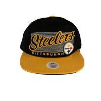 NWT Pittsburgh Steelers Hat Cap NFL Team Yellow Black Football Snapback NEW