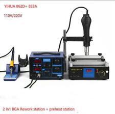 862D+ 853A BGA Rework Station Hot Air Gun Soldering Iron Preheating Station M