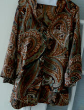 WOMANS ZARA BLOUSE TUNIC SIZE XS PAISLEY DESIGN BELL SLEEVES NEW