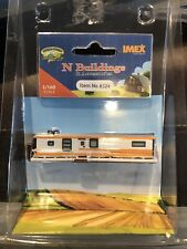 IMEX N SCALE 1958 SKYLINE TRAILER HOME BUILT-UP BUILDING