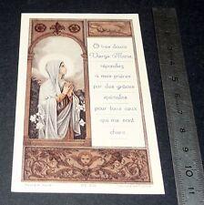 CHROMO 1946 IMAGE PIEUSE CATHOLICISME HOLY CARD VIERGE MARIE COMMUNION