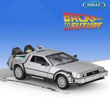 Welly 1:24 Back to the Future 1 Delorean Time Machine Diecast Model Car Toy