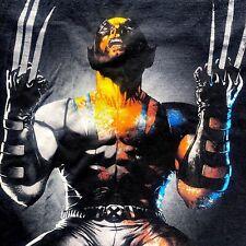 Rare Vintage Marvel Wolverine Men's size Medium Black T-Shirt 90's Comic Art