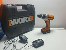 Worx cordless Drill WX163.5  Plus 1 Batteries And Case. 18v Lithium Power