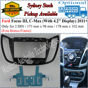 Fascia Fits Ford Focus III LW C-Max 2011 Kuga 2013 Escape 2012 Double Two 2 DIN