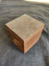 More details for ww1 inkwell made from teak of hms emperor of india iron duke class battleship
