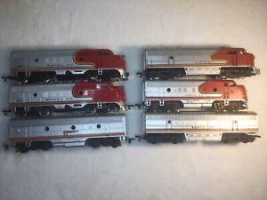 6 Santa Fe Diesel Engine Locomotives Ho Lot A & B Units AHM Tyco Bachmann NR!