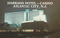 VINTAGE POSTCARD HARRAH'S HOTEL & CASINO ATLANTIC CITY NEW JERSEY MAILED FROM AC