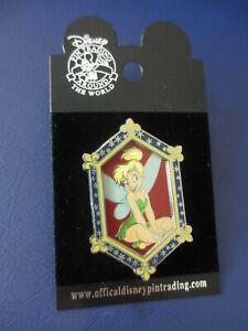 TINKER BELL WALT DISNEY WORLD  FRAMED PICTURE PIN ON PIN NEW *