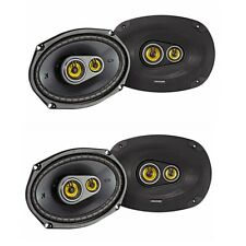 Kicker CS Series 150 Watt 6 x 9 Inch Car Audio Coaxial Speaker, Yellow (4 Pack)