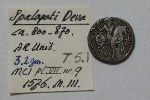 India Kabul Shahis(Shahiyas) Spalapati Deva 750-900 AR Jital Tye 5 B38 ZN30.