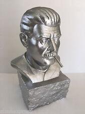 "2007 Frank Kozik 14"" Joseph Stalin Silver Bust Kidrobot Smokin' Joe Dzhugashvili"