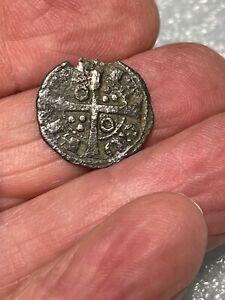 1400's Pirate Cob Coin Silver Billon Spanish Colonial Shipwreck Treasure Era #2E