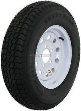 Kenda Trailer Tire On Rim #5252 205/75D15 LRC 5 Lug White Modular w/Stripe