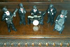 Vintage 5 Piece American Jazz Band Figures Ornaments Set