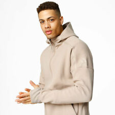 ADIDAS ZNE 2 PULSE HOODIE TOP BEIGE CREAME SIZE S M SMALL MEDIUM MENS JACKET