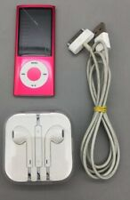 Apple iPod Nano 8Gb Pink Model A1320 Bundle w/Charging Cable & Earbuds - C21