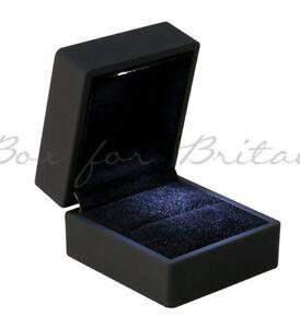 Led Light Ring Box with Led light Black Engagement Ring Box With LED Light