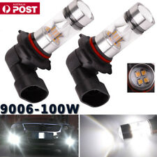 2x 9006 HB4 2323 100W LED Fog Light Driving Globe Bulb Projector Headlight 6000K