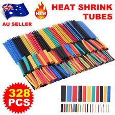 328Pcs Car Assorted Electrical Cable Heat Shrink Tube Tubing Wrap Sleeve Kit AU