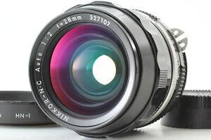 [Exc+5 Hood] Nikon Nikkor-N.C Auto 28mm F/2 Ai Convert Lens From JAPAN