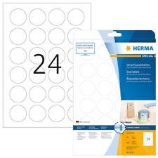 HERMA 4236 Verschlussetiketten A4 transparent Ø 40 mm rund extrem stark haftend