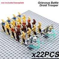 Free shipping 22 Pcs MIXTURE Battle Droid Robot Figures STAR WARS Lego MOC Toys