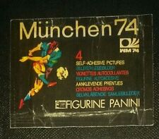 1974 WORLD CUP MUNCHEN 74 PANINI ORIGINAL SEALED UNOPENED STICKER PACK worn