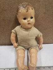 Vintage Mama Doll Composition Head And Limbs Cloth Body With Cryer Box