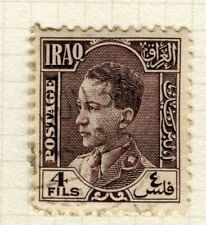 IRAQ; 1934 early King Ghazi issue fine used 4f. value