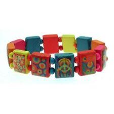 infantil PAZ # 2 Santo multicolor madera Bracelet Elástico Pulseras