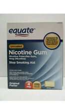 Equate Stop Smoking Aid Nicotine Gum 170 Pieces 4 mg Original Flavor