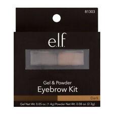 ELF E.L.F Eyebrow Kit Brow mirror brush POWDER GEL Dark