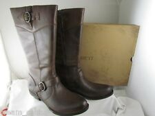 NIB $200 Born Jonsi Brown Motorcycle Knee High Leather Boots Size 11