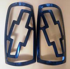 Chevy Silverado Black Paintable Bowtie Pair L&R Tail Light Covers 99,00,01,02
