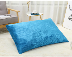 Crushed Velvet Pillowcase Pair Only or with Deluxe Pillow Zipped Washable Covers