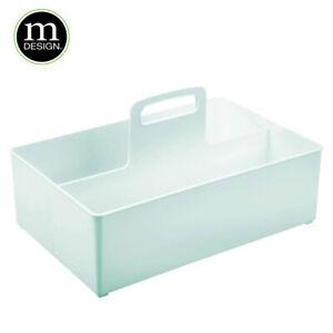 mDesign Nursery Storage Box with Handle Extra Large Plastic Baby Organiser MintG
