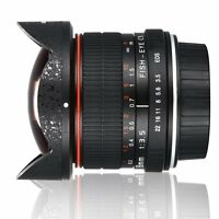 8mm f/3.5 Fisheye Lens Super Wide Angle Manual Focus For Canon EOS APS-C