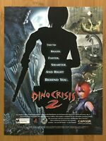 Dino Crisis 2 PS1 Playstation 1 2000 Vintage Print Ad/Poster Official Promo Art