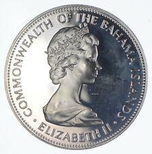 SILVER - HUGE - 1971 Bahama Islands 5 Dollars - World Silver Coin *486