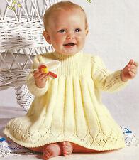 PRETTY BABY DRESS IN 4 PLY KNITTING PATTERN 18/20 INCH  (1014)
