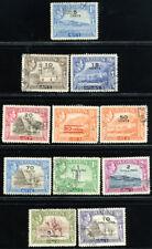 ADEN 1951 SG 36-46 SC 36-46 VF OG USED - RARE OVPT CENTS COMPLETE SET 11 STAMP