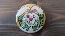 2.25 inch CREEPY Happy Easter Bunny Pin