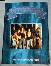 Bon Jovi Tour Programme 1988 Jersey Syndicate Program