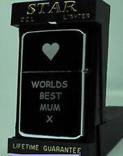 ENGRAVED PETROL LIGHTER MOTHERS DAY  MUM/MUMMY/NAN/SISTER GIFT  UK SELLER