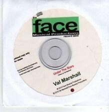 (BT546) Val Marshall, Under The Stars - DJ CD