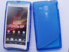 pour xperia sp M35h étui housse silicone coque souple s-line couleur bleu