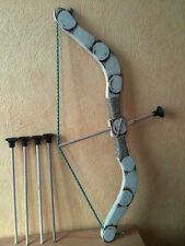 Arc pour enfant en bois ( 5  fleches ) taille 53 cm  en bois( 3 a 6 ans)