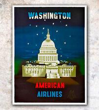 "Vintage Travel Poster Washington DC 12x16"" Rare Hot New A136"